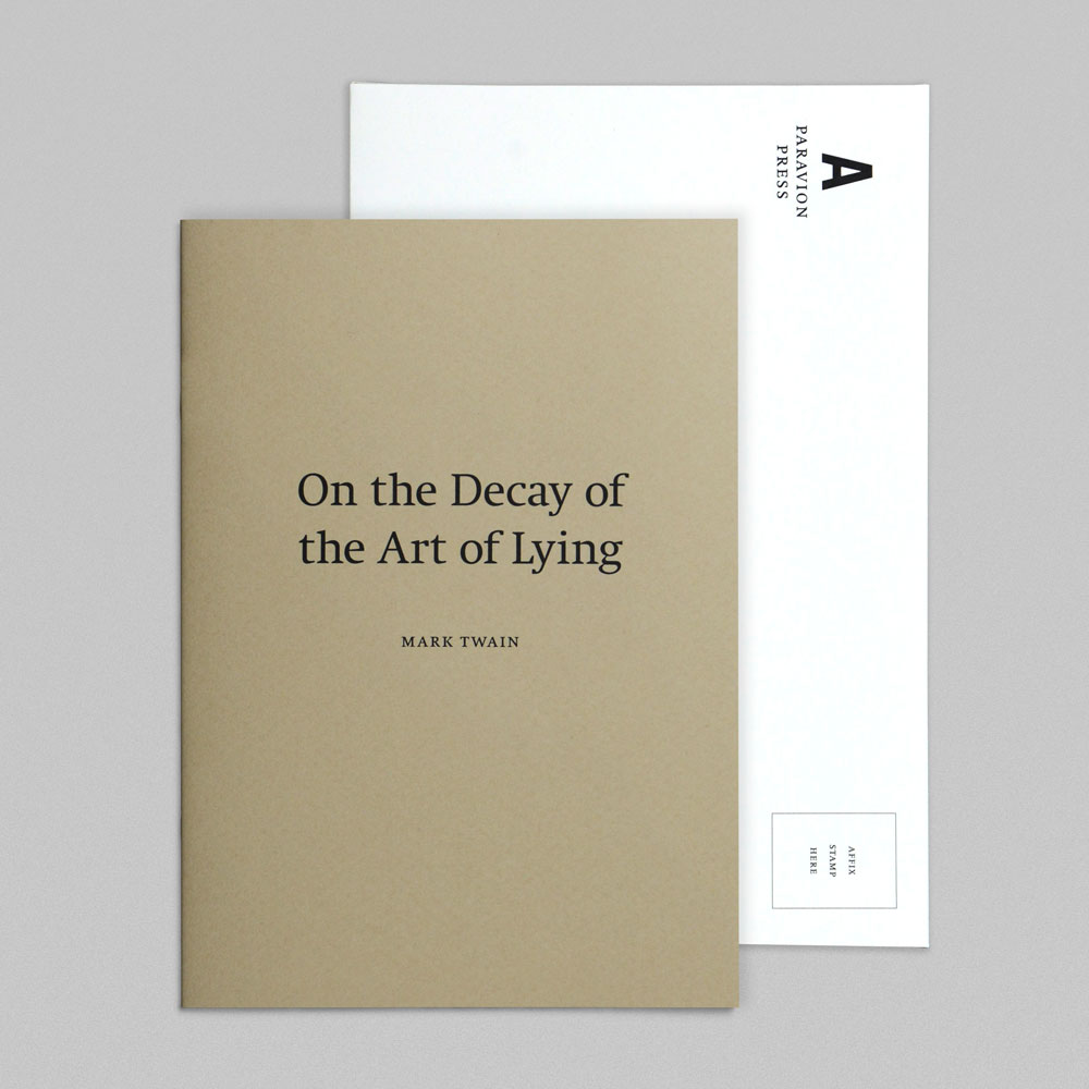 mark twain essays on lying